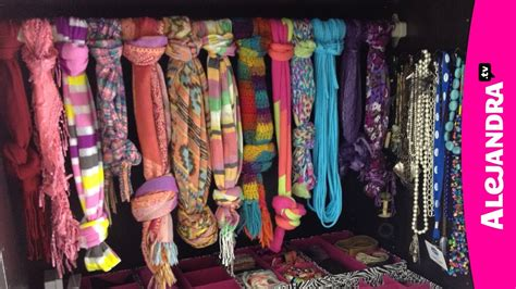 how to organize jewelry purses hats scarves in the