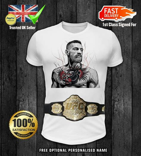 Conor mcgregor vs dustin poirier 1. Conor Mcgregor With Belt Kids girls boys t shirt xmas ...