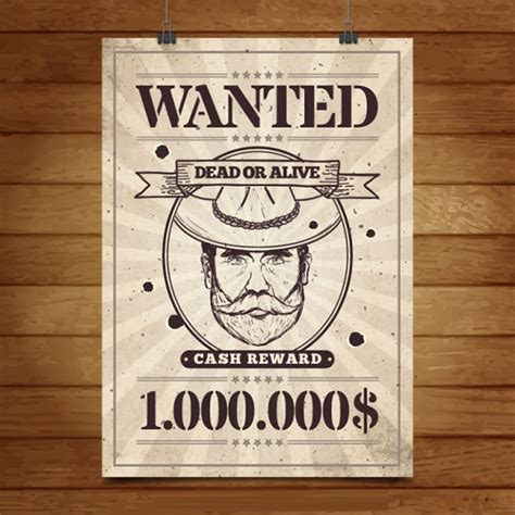 44+ Wanted Poster Templates - Free PSD Vector PNG Ai JPG ...