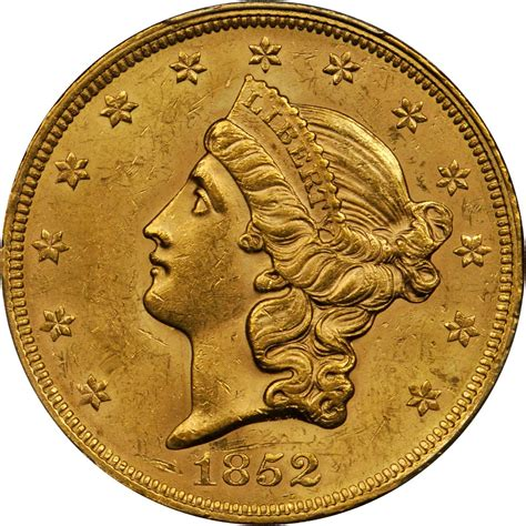 Value of 1852 $20 Liberty Double Eagle   Sell Rare Coins