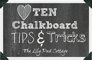 10 chalkboard tips and tricks the lilypad cottage With chalkboard font ideas