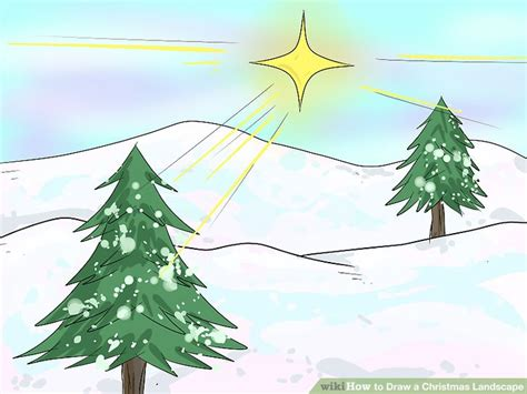 Drawn Fir Tree Snow Drawing Pencil And In Color Drawn