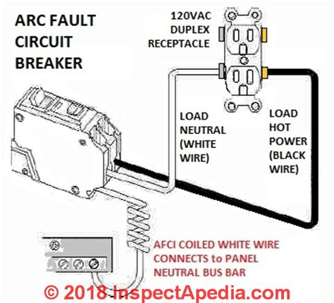 arc fault breaker wiring diagram auto forward to correct web page at inspectapedia