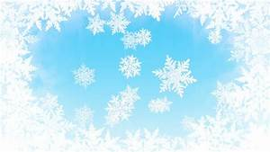 White Background With Light Blue Snowflakes Falling Down ...