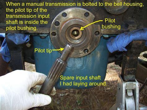 remove  pilot bushing   crankshaft