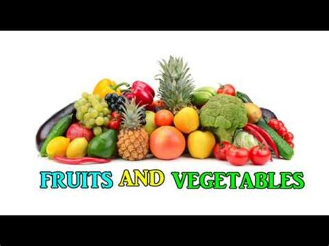 Learn Name Of Fruits And Vegetables Flashcards In English For Kids Babies Children Toddler Youtube