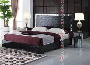 modern latest high back designer bed modern black With beds for backs