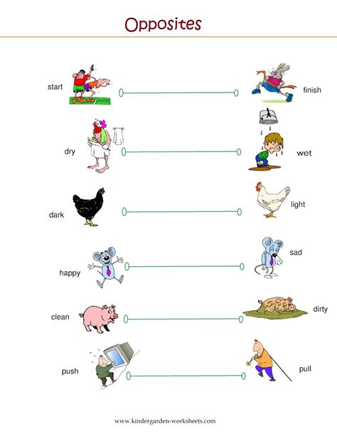 opposite worksheets preschool kindergarten worksheets kindergarten worksheets opposite