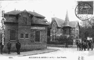 bureau de poste aulnay sous bois carte postale la poste 93600 de la seine denis 93