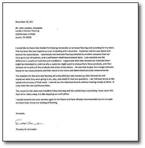 letters  recommendation landers premier flooring