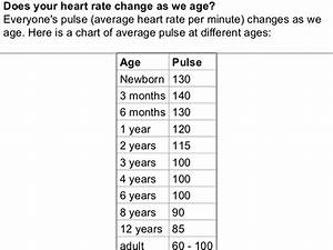Normal Pulse By Age Chart Heart Pictures And Information1