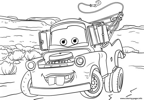 Cars Coloring Pages Mater Coloring Pages