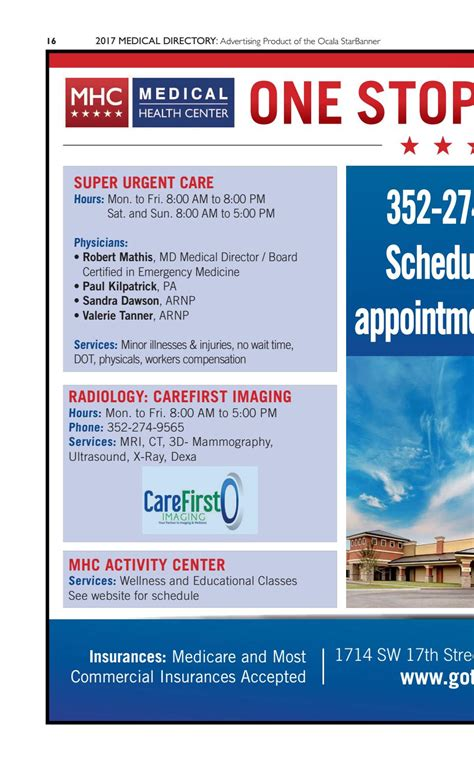 2017 Medical Directory by Ocala StarBanner Issuu
