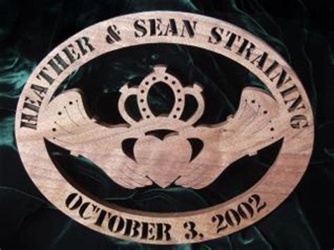celtic anniversary claddagh scroll  woodworking crafts