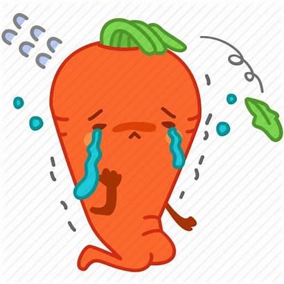 Sad Carrot Emoji Crying Vegetable Icon Emoticon