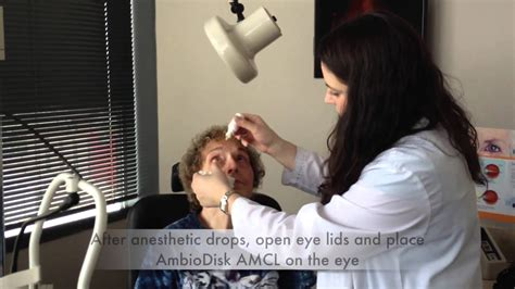 ambiodisk amniotic membrane contact lens patient  youtube