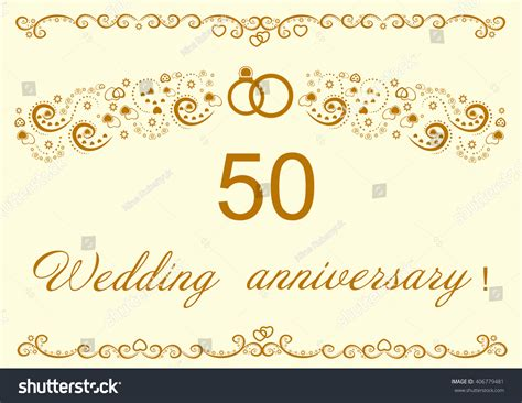 50th Wedding Anniversary Invitation Stock Vector 406779481