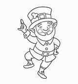 Coloring Leprechaun Pages Printable St Patricks Clipart Clip Colouring Sheets Patrick Saint Irish Printables Rocks Drawing Para Template Getdrawings Easter sketch template