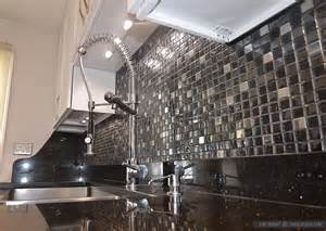 black glass tiles for kitchen backsplashes glass backsplash ideas design photos and pictures