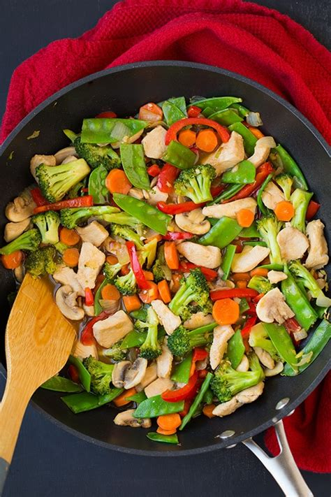 healthy chicken  vegetable stir fry recipe cooking classy