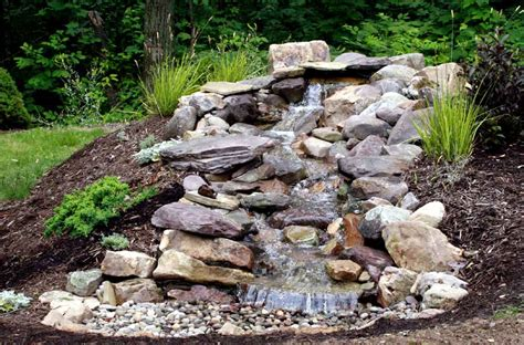 waterfall design ideas pondless waterfall water features