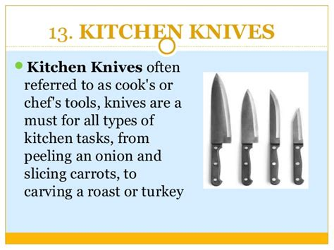 chef kitchen knives cooking utensils list that every kitchen needs