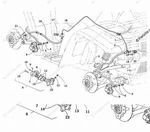Arctic Cat Atv 2001 Oem Parts Diagram For Hydraulic Brake Assembly