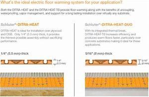 Schluter Ditra Heat Wiring Diagram E Rt