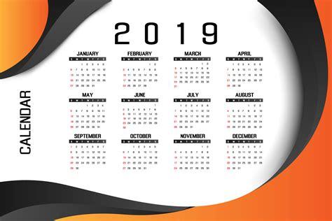 business calendar design concept