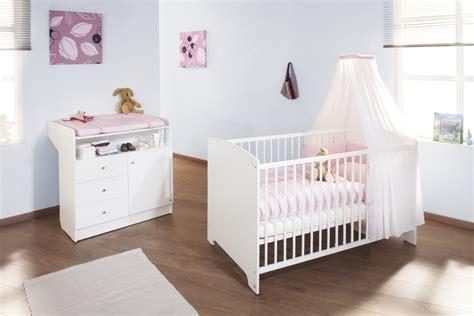Chambre Transformable - lit bébé évolutif et commode à langer jil