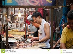 Street Food At Muslim Street In Xian Editorial Stock Photo