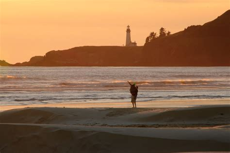 Yaquina Head Sunset Newport Oregon Photo