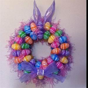 My Pinterest Easter Wreath! :) | Craft Ideas | Pinterest ...
