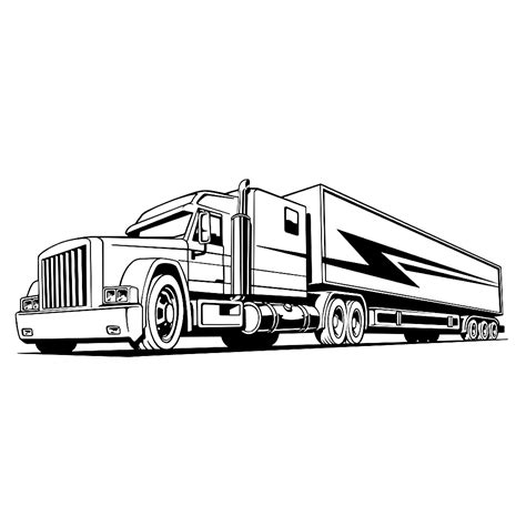 Kleurplaat Volvo Vrachtwagen by Vrachtauto S Kleurplaten Kleurplatenpagina Nl