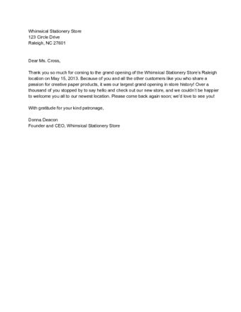 Thank You Letter To Client For Giving Business | scrumps