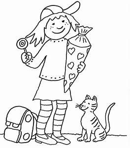 Kind Mit Schultüte : kostenlose malvorlage einschulung m dchen mit schult te ~ Lizthompson.info Haus und Dekorationen
