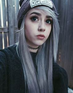 Picture Of A Hoop Nose Piercing Plus A Septum Hoop For A