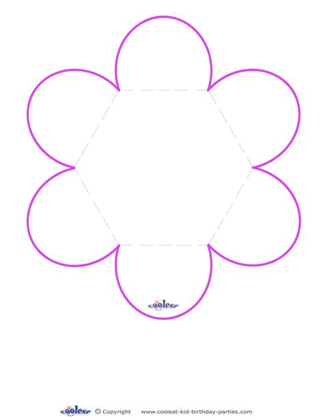 Flower Template Blank Flower Card Template Nextinvitation Templates