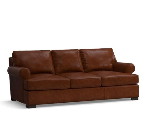 pottery barn townsend sofa townsend roll arm leather sofa collection pottery barn
