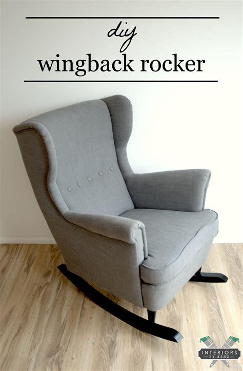 ikea wingback chair ikea hack strandmon rocker diy wingback rocking chair