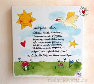 Leinwandbild Mit Spruch : kinderzimmerbild mit einem spruch malerei f r kleine ~ Sanjose-hotels-ca.com Haus und Dekorationen