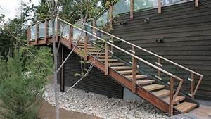 Garde Corps Exterieur Bois : rampe d escalier exterieur ~ Dailycaller-alerts.com Idées de Décoration