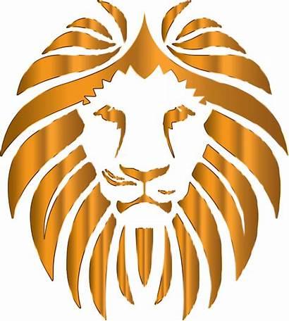 Lion Background Clipart Golden Transparent Cliparts Svg