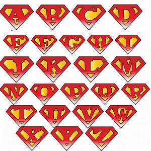 superman logo with different letters clipartsco With superman alphabet template