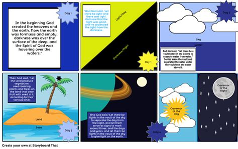 Genesis Creation Story 1 Storyboard By Imaniacgamez