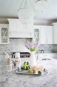 Gray and White Kitchen with Granite Countertop