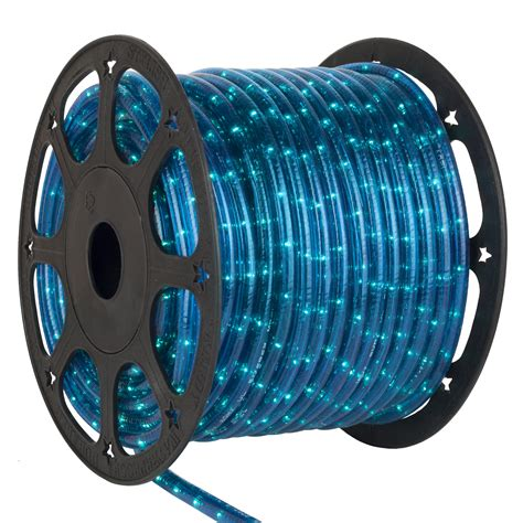 rope light  blue chasing rope light commercial spool