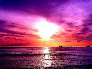 Purple Ocean Beach Sunset Hd Wallpaper | Best HD Wallpapers