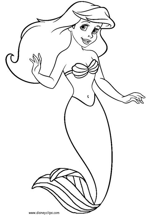 ariel  mermaid coloring pages coloring home
