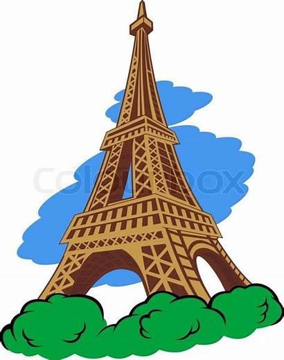 Paris Tower Eiffel Cartoon Vector Clip Simple
